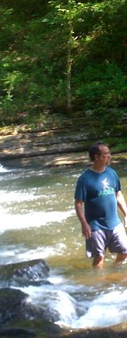 Paul Pavao at Davy Crockett State Park's Shoal Creek in Lawrenceburg, TN