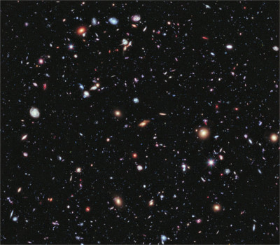 eXtreme Deep Field image, by Hubble telescope