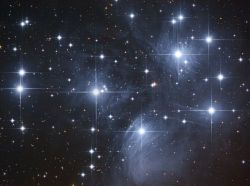 NASA photo of the Pleiades star cluster