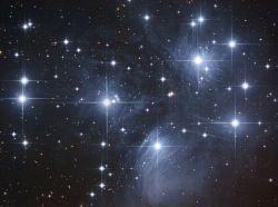NASA photo of the Pleiades star cluster