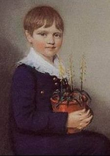 Charles Darwin as a child, age 7