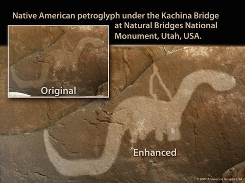 Kachina Bridge Dinosaur Petroglyph; is this a sauropod?
