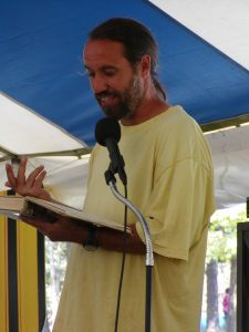 Paul Pavao teaching at a festival