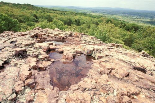 Rhyolite formation called Devil's Honeycomb in Missouri