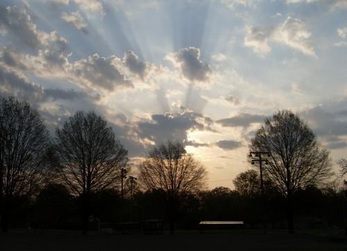Sunrise over Adamsville, TN