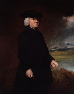 Portrait of William Paley by George Romney, who died in 1802