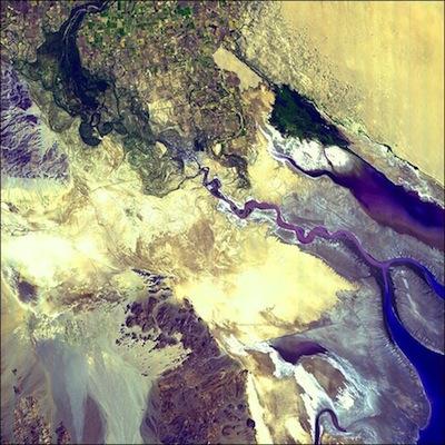 Colorado River delta by NASA
