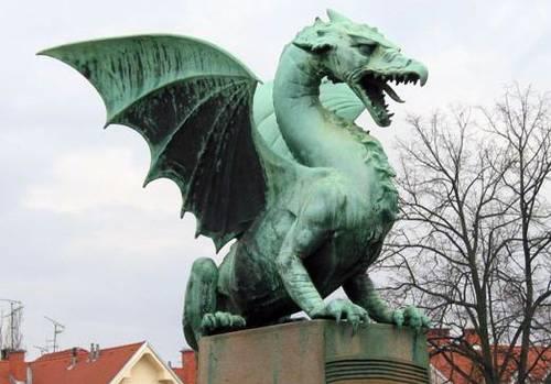 Ljubljana dragon statue