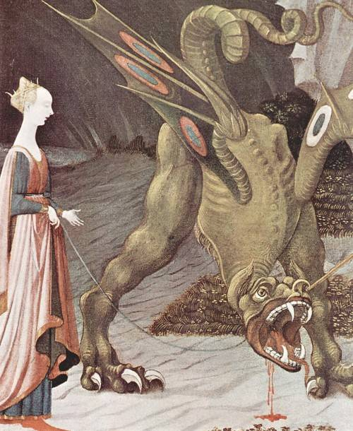 Dragon painting by Paolo Uccello