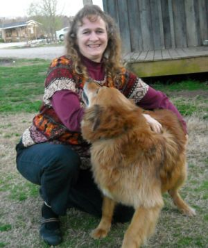 My wife, Hannah, and my dog, Sam