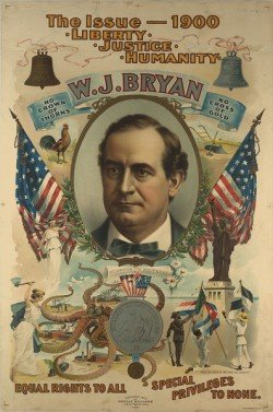 William Jennings Bryan's 1900 presidential campaign poster
